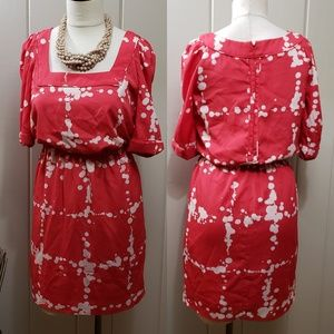Jessica Simpson | 4 red & white cinch waist dress